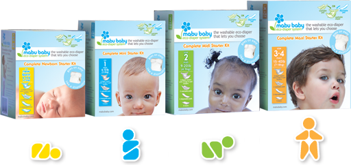 Mabu Baby Eco-Diaper All Four Starter Kits
