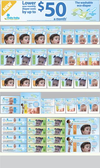 Mabu Baby Eco-Diaper Walmart Endcap