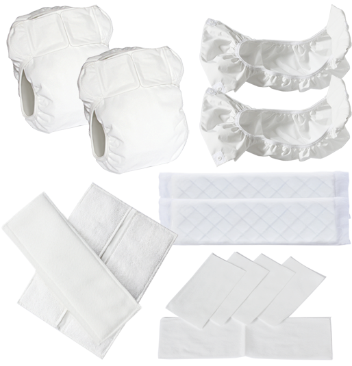 Mabu Baby Eco-Diaper Starter Kit Contents